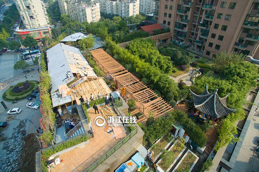 """杭州现""""史上最牛空中后花园""""遭违章拆除,有点可惜了"""