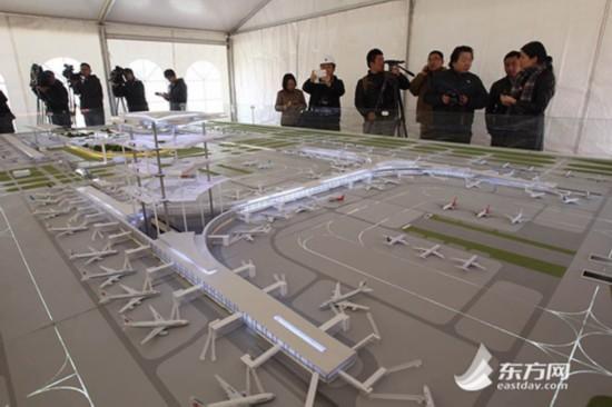 世界最大的单体卫星厅将于2019年在上海浦东国际机场建成