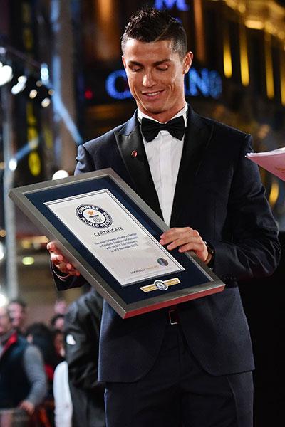 世界足球巨星克里斯蒂亚诺•罗纳尔多有哪些最记录