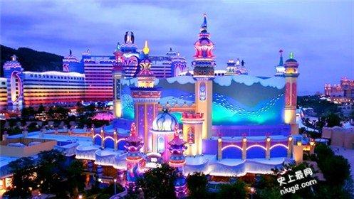 世界上最大的3D立体投影-珠海横琴长隆海洋王国5D城堡影院