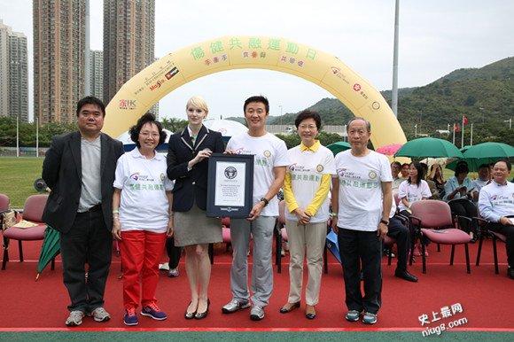 世界最长握手链由香港3,434名参与者完成