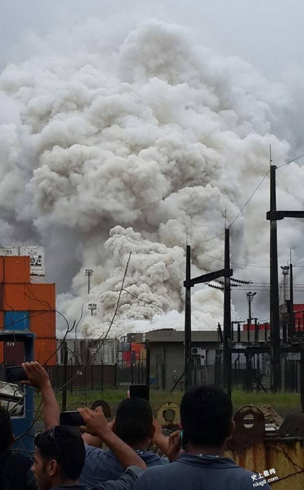 巴西最大港口圣保罗州桑托斯港发生毒气泄漏