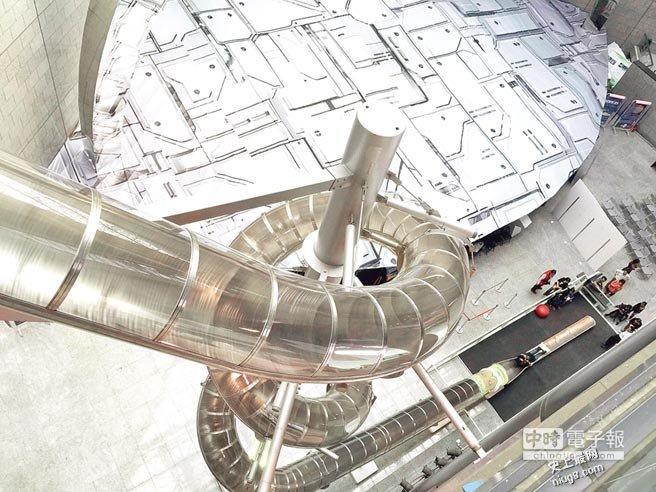 亚洲最高的螺旋溜滑梯在高雄科学工艺博物馆