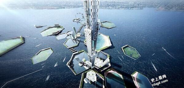 """东京将要建超级摩天楼*名叫""""天空英里塔""""(Sky Mile Tower)"""