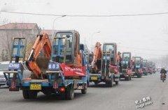 史上最牛婚车队-重庆挖掘机迎亲队