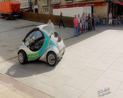 世界首部可折叠电动车 小巧玲珑
