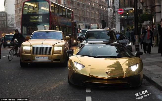 沙国富豪炫车4辆黄金超跑伦敦亮相*宾士越野车G63 AMG 6×6