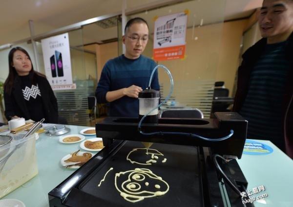 酷发明动漫煎餅机 成都男子研发3D煎饼印表机