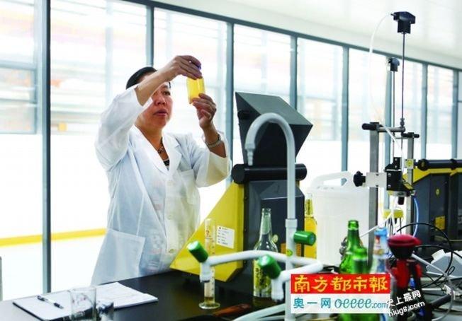 中国第1瓶纯生啤酒  珠江啤酒