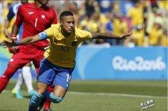 里约奥运史上最快 内马15秒进球 巴西