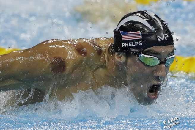 美国「飞鱼」菲尔普斯(Michael Phelps)22金的泳池叱咤风云