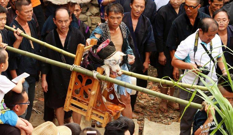 贵州「抬狗节」 向狗感恩倡万物平等
