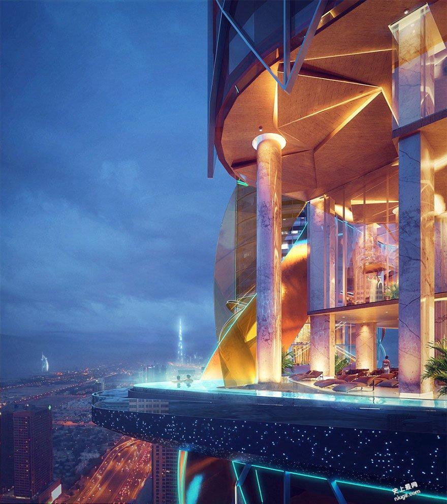 2018年迪拜-世界上第一个酒店装进了热带雨林