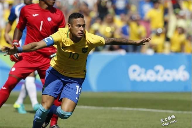 里约奥运史上最快 内马15秒进球 巴西闯金牌战