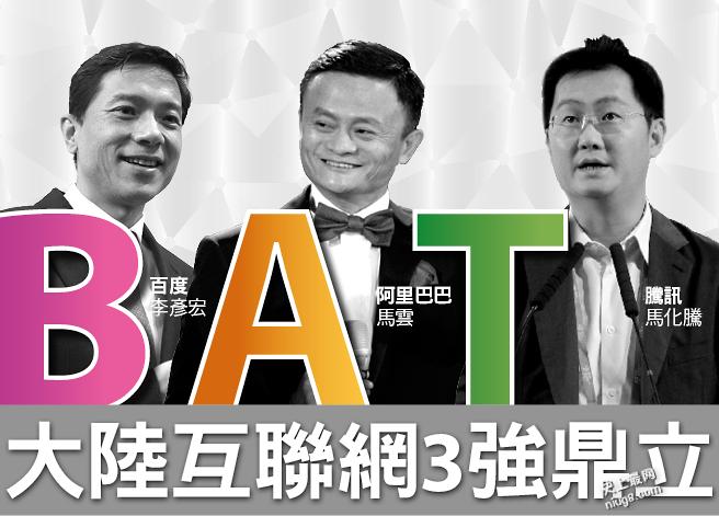 中国互联网新三国版图:百度、阿里巴巴及腾讯(BAT)