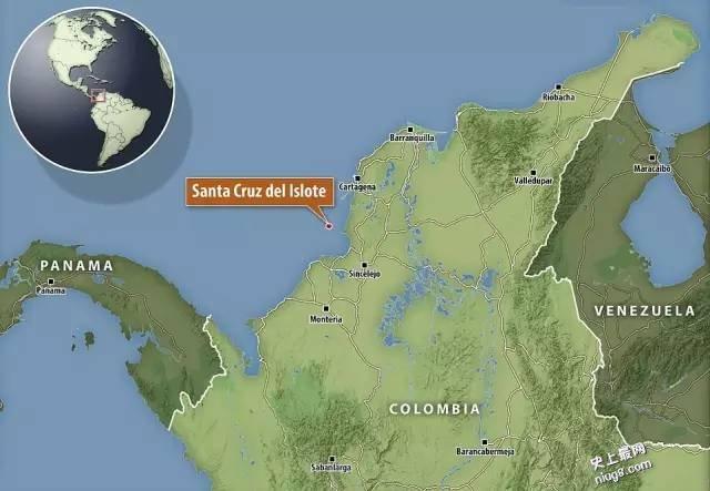 世界上最拥挤的岛屿Santa Cruz delIslote在哥伦比亚