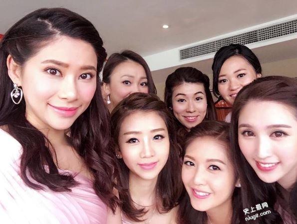 张名雅大婚:史上最强姊妹团唐贝诗、谭子琪、何傲儿及陈庭欣晒冷