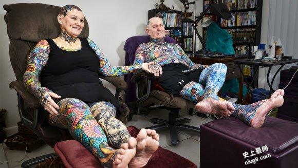 世界上身体最多纹身的人是谁?Charlotte Guttenberg