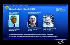 2016诺贝尔物理学奖:以「拓朴相态」研究获殊荣