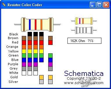 """最新在线色环电阻阻值计算器-精确度更高的""""五色环""""电阻, 阻值表示"""