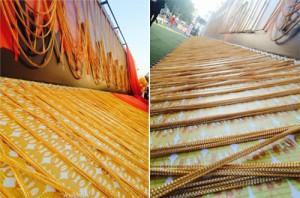 世界最长的金链子总长达到了5522公尺(约5522米)