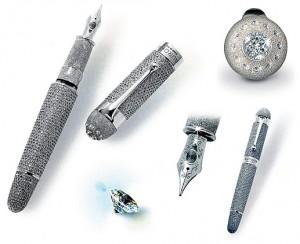世界最贵的钢笔2000颗戴比尔斯(De