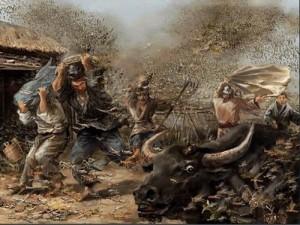 史上记录最大的蝗灾约为796次