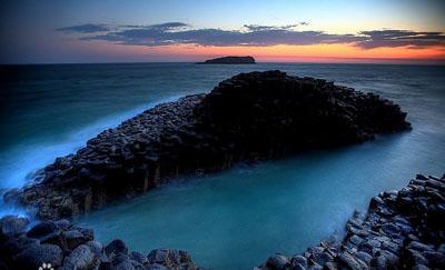 """爱尔兰""""巨人之路""""浪漫的传说,自然奇观"""